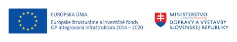 Európska únia | Európsne štrukturálne a investičné fondy | OP Integrovaná infraštruktúry 2014 – 2020 | Ministerstvo dopravy a výstavky Slovenskej republiky